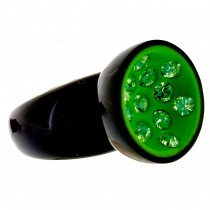 GREEN CANNONBALL LARGE RING.