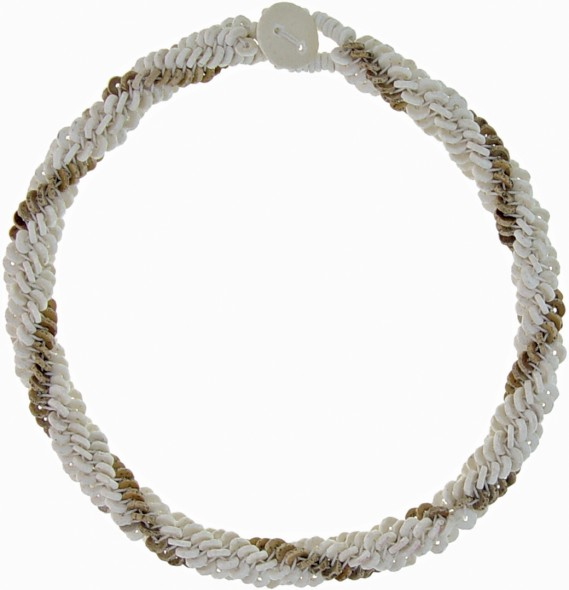 GENESIS OSTRICH EGG SHELL NECKLACE.  SINGLE SWIRL