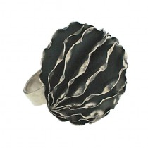 Aleeha Anemone Silver Ring
