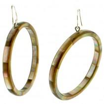 POSEIDON HOOP EARRINGS. BROWN