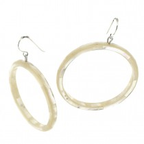 POSEIDON HOOP EARRINGS. WHITE