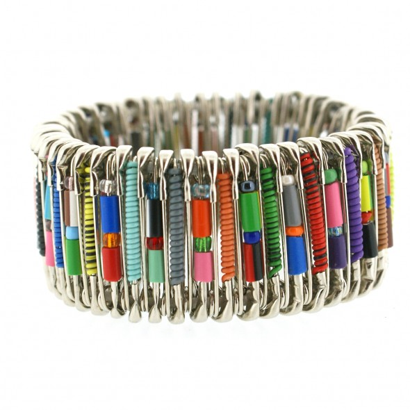 SAFETY PIN BRACELET. SMALL. MULTI COLOR