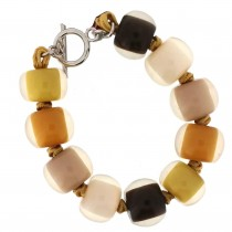 COLORS BALL BRACELET. NATURAL TONES