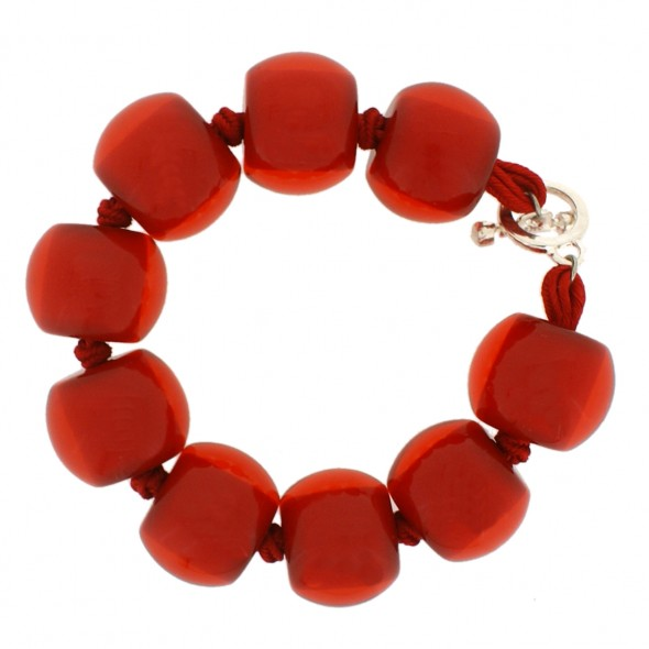 COLOR BALL BRACELET. RED