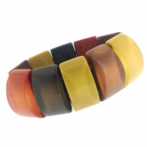 COLOR STRETCH BRACELET.  RUSTY