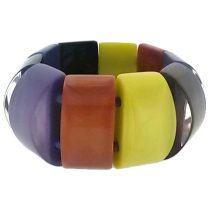 COLORS STRETCH BRACELET.  RUST/PURPLE