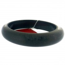 NARROW BANGLE. CHARCOAL