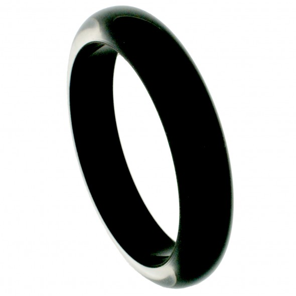 NARROW BANGLE. BLACK