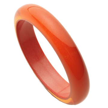 NARROW BANGLE.  ORANGE.