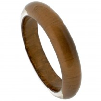 NARROW BANGLE.  METALLIC BROWN