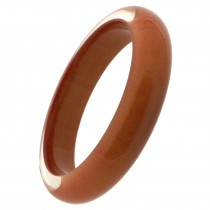 THIN CLEAR RESIN BANGLE WITH COLOR. COPPER (#958) MEDIUM