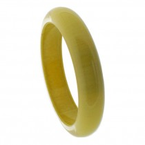 THIN CLEAR RESIN BANGLE WITH COLOR. MUSTARD IN CLEAR (#959).  SIZE MEDIUM