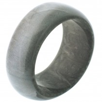 WAVE SHAPED BANGLE.  GRAY