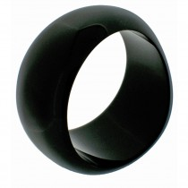 WAVE SHAPED BANGLE COLOR. BLACK LARGE