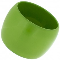 WIDE CUFF BANGLE. GREEN