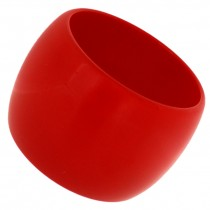 WIDE CUFF BANGLE .RED