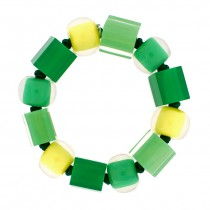COLORS MEDIUM BALL & CUBE BRACELET.  PINEAPPLE