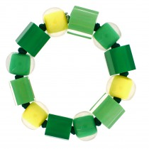 COLORS  MEDIUM BALL AND CUBE ELASTIC BRACELET. PINEAPPLE