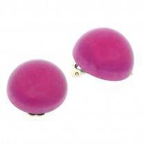 HOT PINK DOME EARRING.