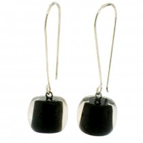 COLORS BALL EARRING. BLACK