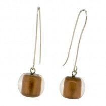 COLOR BALL EARRING. BRONZE