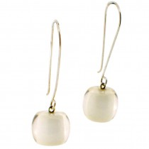 COLORS BALL EARRING. WHITE