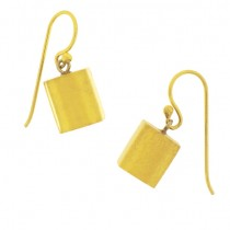 GOLD LEAF CUBE EARRING