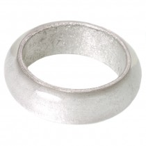 SILVER LEAF WIDE DOME BANGLE.