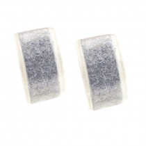 SILVER LEAF RECTANGLE EARRING. POST