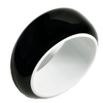 BLACKOUT BANGLE. WHITE/BLACK