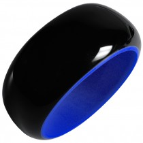 BLACKOUT BANGLE. BLUE/BLACK