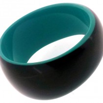 BLACKOUT BANGLE. AQUA/BLACK