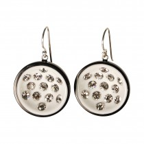 CANNONBALL LARGE HOOK EARRING. WHITE