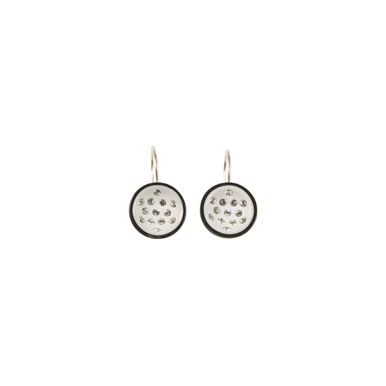 CANNONBALL SMALL HOOK EARRING. WHITE