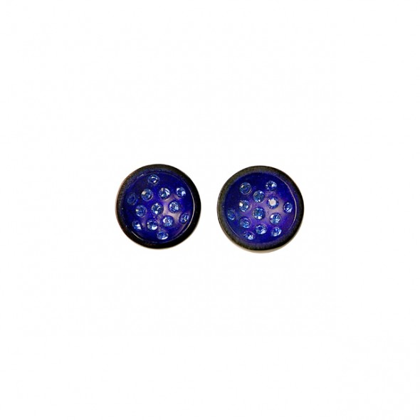 CANNONBALL SMALL POST EARRING. BLUE