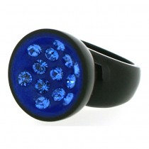 CANNONBALL LARGE RING. BLUE