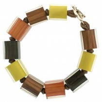 COLORS MEDIUM CUBE BRACELET. RUST