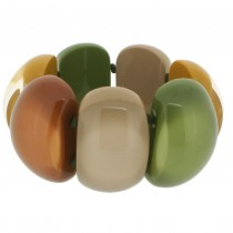 CLARITY 7 BEAD ELASTIC BRACELET.  FALL