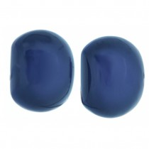 CLARITY DOMED EARRING.   PURPLE/BLUE