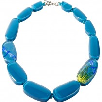 FRAGILE 12 BEAD NECKLACE TURQUOISE