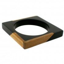 FUZION  SQUARE BANGLE BLACK MEDIUM