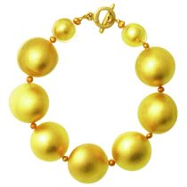 GOLD LEAF BALL BRACELET