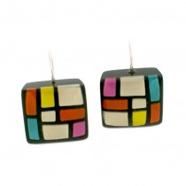 HOMAGE SMALL SQUARE EARRING W/ HOOK. SOFT (0688)