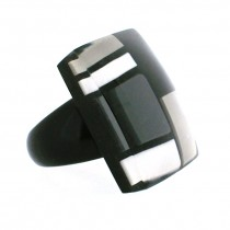 HOMAGE SQUARE RING. GREYS