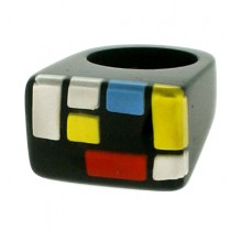 HOMAGE SMALL RECTANGULAR  RING. CLASSIC