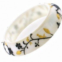 HANAMI THIN BANGLE. WHITE