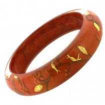 HANAMI THIN BANGLE. BURNT ORANGE