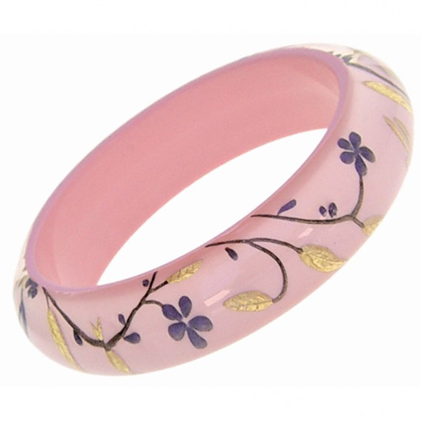 HANAMI THIN BANGLE. PINK MEDIUM