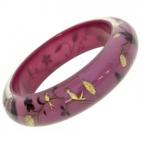 HANAMI THIN BANGLE. MAROON