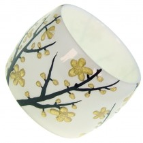 HANAMI WIDE BANGLE. WHITE